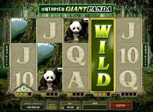 Дикий символ в игре Untamed Giant Panda